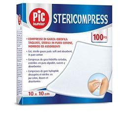 PIC Stericompress garza cotone 10x10 100 pz
