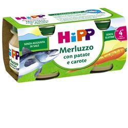 Hipp Omogeneizzato Biologico Merluzzo, Carote e Patate 2X80g