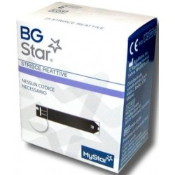 BGSTAR Mystar Extra 25 Strisce Compatibili con Misuratore Glicemia