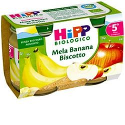 Hipp Biologico Omogeneizzato Mela Banana Biscotto 2X125g