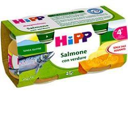 Hipp Omogeneizzato Salmone Con Verdure 4M+ 2x80g