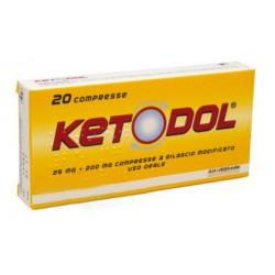 Ketodol 20 compresse 25mg + 200mg