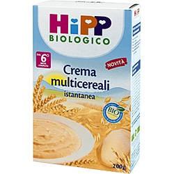 Hipp Biologico Crema Di Cereali Multicereali 4M+ 200g