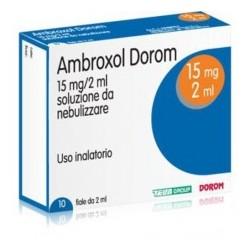 AMBROXOL DOROM 15 mg Soluz. per Nebulizzazione 10 Fiale 2 ml