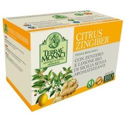 Terrae Monaci Citrus Zingiber Tisana Bio 20 filtri da 1,5 g
