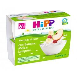 Hipp Merenda Latte Mela Banana Lampone 4X100 g