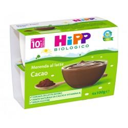 Hipp Biologico Merenda Latte Cacao 4x100g